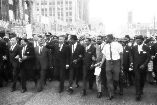 1963 : Martin Luther King Leads Leads Largest Demonstration in Nation's History in Detroit