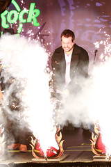 Joey Fatone smashes a guitar at the official opening ceremony of the Hard Rock Cafe in Tampa (Seminole Hard Rock Hotel & Casino - Tampa) Tags: tampabay casino styx hardrock hardrockcafe nsync hardrockcasino nickyhilton joeyfatone alilandry tommyshaw samantharonson stephaniepratt djsamantharonson seminolehardrocktampa