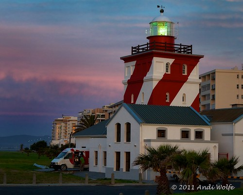 Green Point Lighthouse at Sunset; seaward side