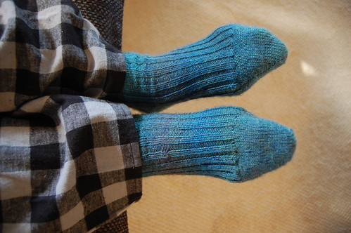 Dad's socks, modeled