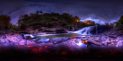 The Kabir Kouba Waterfall - Panoramic Equirectangular Projection