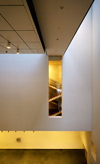 MoMA stairs (@archphotographr) Tags: nyc newyorkcity white newyork abstract color yellow architecture modern lumix design stair geometry manhattan contemporary interior perspective moma panasonic museumofmodernart architect pointandshoot dmc lx5 panasoniclumixdmclx5