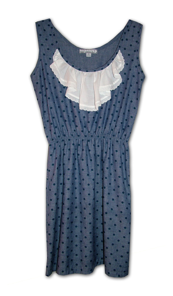 feisty dress chambray spot