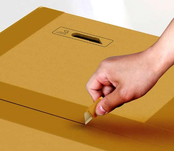 cutter en una caja