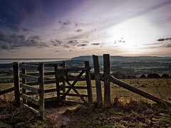 Purple Sky (Rafe Abrook Photography) Tags: sky fence downs landscape gate view purple style wideangle olympus isleofwight e3 stile zuiko hdr iow brading 918mm