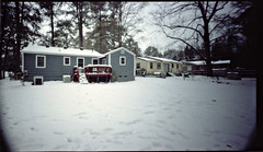 Holga WPC (Blake Burton) Tags: atlanta winter snow cold film ice weather georgia holga long exposure kodak panoramic pinhole medium format portra wpc 160nc snowpocalypse