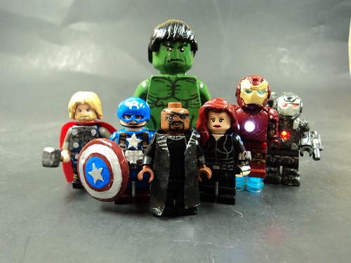 Custom minifig The Avengers custom minifigs