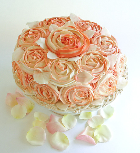 Shabby Chic Rose Cake