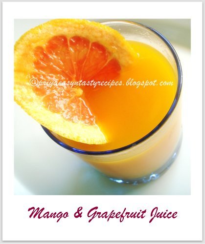 Mango & Grapefruit Juice