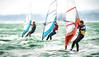 The Chase (DeanoNC) Tags: haylingisland topazimpressions gx7 windsurfers