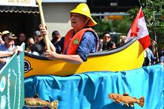 Parade Canoe (pokoroto) Tags: people parade canoe calgarystampede calgary   alberta canada  7   shichigatsu fumizuki bookmonth 2016 28 summer july
