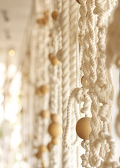 On the Ropes (creatocrat) Tags: white hotel ace palmsprings ropes macrame neutral