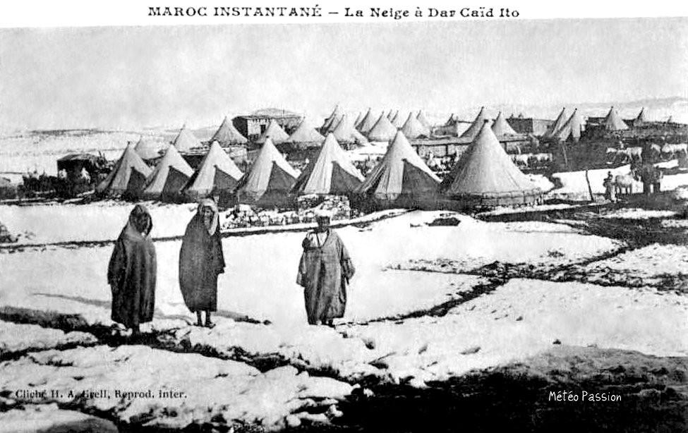 neige au Maroc en janvier 1914
