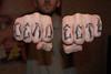 my fingazzz. type in russian. by Sasha Krank (Mack Taknado) Tags: art tattoo ink design russia oldschool type script миша россия мак рисунок тату дизайн сибирь татуировка новосибирск климов олдскул taknado piersib пирсиб