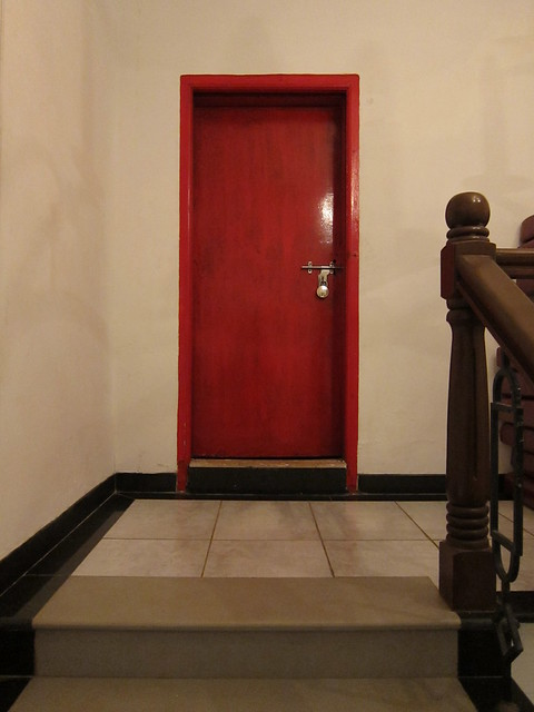 Scary red door
