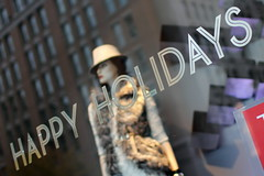 Happy Holidays at Zara (Mr. T in DC) Tags: windows signs mannequin fashion reflections shopping washingtondc dc clothing downtown clothes dcist storefronts stores happyholidays zara downtowndc windowdisplays fstreet clothingstores