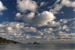 Cotton wool sky (rosyrosie2009) Tags: uk blue sea england seascape beach water weather clouds landscape photography coast nikon rocks flickr photos ships explore torquay hdr tankers coastpath torbay photomatix meadfoot tonemapped nikkor1855mm explored devonandcornwall thatcherrock d5000 rosiesphotos osbornehotel nikkor1855mmf3556gvr nikond5000 rosiespooner rosyrosie2009 rosemaryspooner rosiespoonerphotography