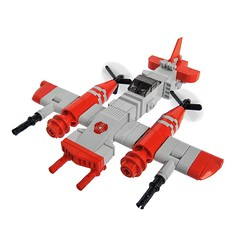 Hamm Zero - Sky Fighter (Fredoichi) Tags: plane fighter lego space military micro shooter shootemup skyfi shmup microscale skyfighter fredoichi