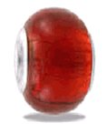 red foil bead