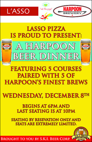 Lasso Pizza Harpoon Beer Dinner