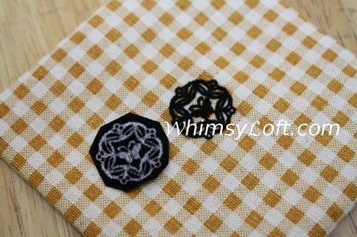 Coasters with velvet iron-ons