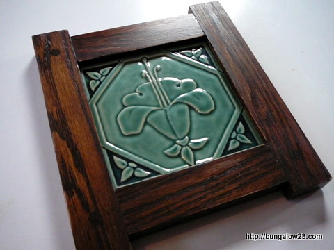 Finished tile frame