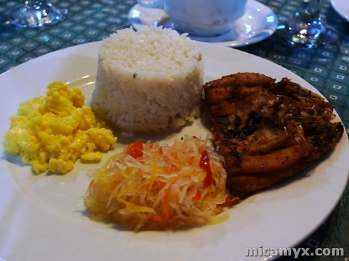 Boneless Bangus with Scrambled Egg and Atchara