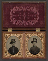 [Two unidentified soldiers in Union uniforms with Hardee hats bearing infantry insignia] (LOC) (The Library of Congress) Tags: family infantry soldier unitedstates brothers civilwar american libraryofcongress americancivilwar hardee uscivilwar xmlns:dc=httppurlorgdcelements11 hardeehats dc:identifier=httphdllocgovlocpnpppmsca26879