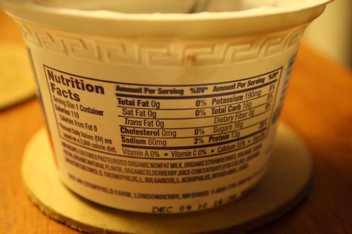 Nutrition facts Oikos Strawberry yogurt