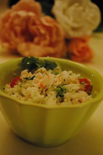 (c) Le Blog Cuisine de Lily / Taboulé de chou fleur au surimi