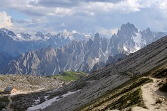 Giro tre Cime di Lavaredo (onthenorthroad) Tags: light summer italy mountains alps nature canon landscape scenery italia hiking roadtrip unesco climbing blueskies naturalwonder impression dolomites dolomiti majesty 2010 trecime mountainroads trecimedilavaredo cadini tamron1750 cadinidimisurina girodetrecime aroundtrecime