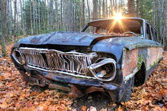 The Falcon Squirre (PhotoYoop) Tags: travel autumn usa art fall ford tourism broken geotagged woods automobile artist antique michigan stock rusty down professional michiganfavorites cannon wilderness oldcar artisan visionary junker thegreatoutdoors professionalphotography digitalmedia genovese bigbay stockimagery michiganoutdoors welcometomichigan picturesofmichigan puremichigan photoyoop falconsquirre mrquette selftaughtprofessional
