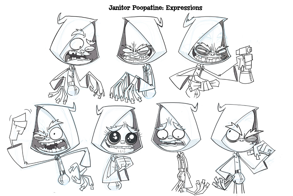 Janitor Poopatine Expressions