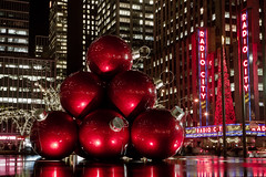 (Barry Yanowitz) Tags: christmas nyc newyorkcity longexposure holiday ny newyork reflection reflections holidays nightshot manhattan chanukah rockefellercenter midtown gothamist nightphoto radiocitymusichall xmass hanukkah nycity