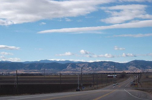 Rolling west towards Fort Collins