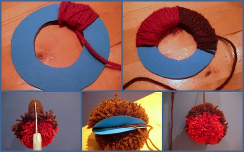 make a pompom robin