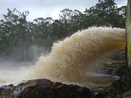 Water over the Spillway