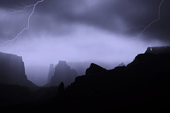 A storm in Wedding Canyon (Outrageous Images) Tags: winter bw colorado thunderstorm lightning thunder fruita cnm coloradonationalmonument weddingcanyon outrageousimages davewadsworth