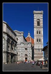 0381 campanile fachada y batisterio del duomo florencia (Pepe Gil Paradas. (ON-OFF)) Tags: del italia campanile florencia duomo toscana fachada cupula batisterio