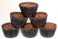 Trader Joe's Milk Chocolate Peanut Butter Cups stacked