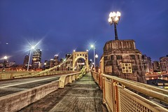 Clemente Bridge at night - HDR (Dave DiCello) Tags: christmas beautiful lines skyline photoshop nikon pittsburgh tripod bluehour nikkor hdr highdynamicrange robertoclemente cec cs4 mellonarena steelcity photomatix beautifulcities pittsburghpenguins yinzer cityofbridges tonemapped theburgh clementebridge pittsburgher colorefex cs5 beautifulskyline d700 thecityofbridges coloreffex pittsburghphotography consolenergycenter davedicello pittsburghcityofbridges steelscapes hdrefex beautifulcitiesatnight hdrexposed picturesofpittsburgh cityofbridgesphotography