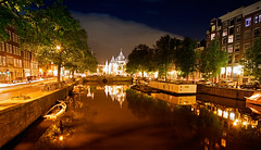 Amsterdam Canal (DolliaSH) Tags: trip travel vacation holiday holland tourism amsterdam canon canal tour place nightshot nederland thenetherlands wideangle visit location tourist journey destination traveling visiting ultrawide 1022mm touring noordholland canonefs1022mmf3545usm 50d canoneos50d dollia dollias sheombar dolliash