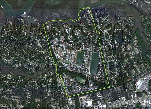 I'On outlined (via Google Earth)