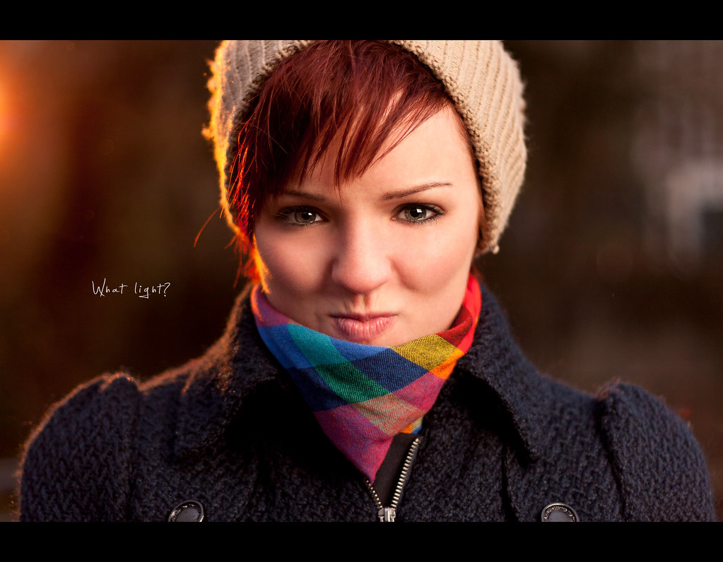 Day 112, 112/365, Project 365, Portrait, Jasmin, Strobist, Bokeh, CTO, warm, sun, redhead,