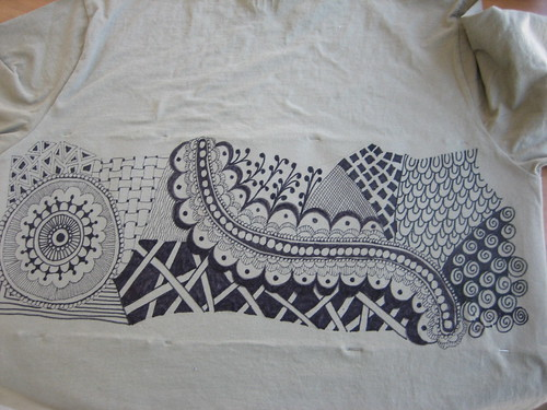 Zentangle T-shirt #2 (back)