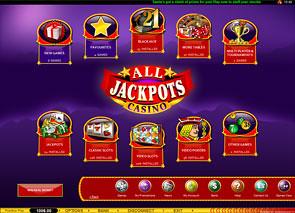 All Jackpots Casino Lobby