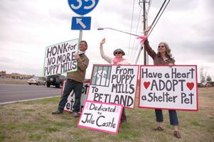 Austin protestors dedicate their endeavor to their hero, Julie Castle