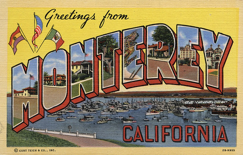 Greetings from monterey california large letter postcard a greetings from monterey california large letter postcard m4hsunfo Gallery