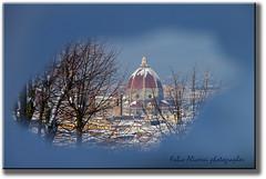 spiraglio innevato (fabio.fir ) Tags: winter panorama snow alberi canon eos florence tetti cupola neve vista firenze duomo inverno 550d innevati citta 1585isusm
