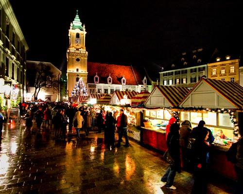 Christmas Market, Bratislava, Slovakia (by: Brian Colson, creative commons license)